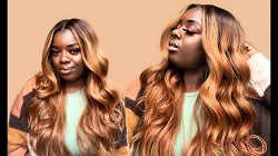 honey blonde synthetic wigs