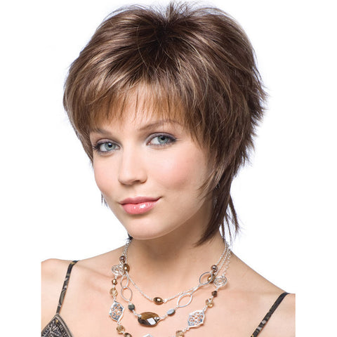Short Synthetic Wigs for White Women Slightly Curly Wigs