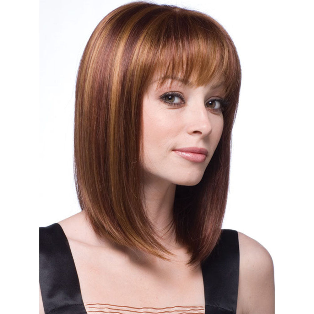 Synthetic Wig Straight Style Wig Women's Brown Medium Length Wig