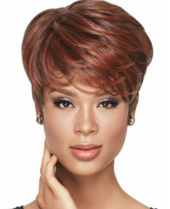 Short Curly Style Wigs for Women Brown Synthetic Hair Natural Looking