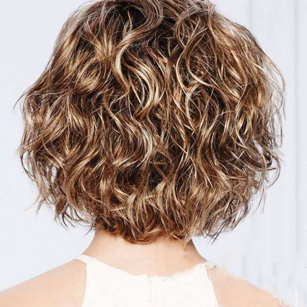 Women's Hot Sale Short Synthetic Hair Loose Curl Style Wig with Bangs