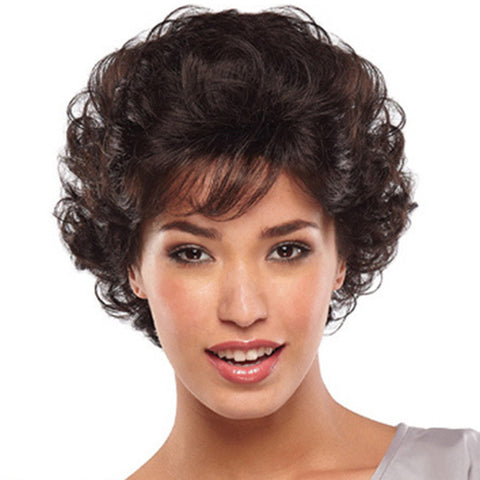 Synthetic Wig Curly Style Wig with Bangs Women's Fashionable Design