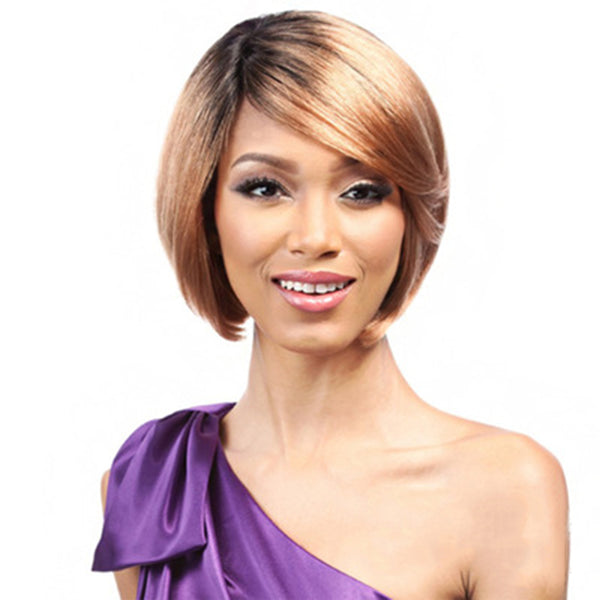 Short Wavy Bob Side Part Wig Women's Synthetic Hair Hot Sale