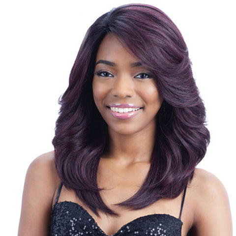 Long Natural Wave Black Mix Purple Wig 18 inch New Arrival