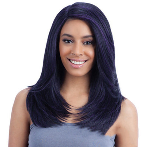 Women's Wavy Synthetic Wig Right Side Parting Wig 22 inch