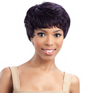 Short Loose Wave Wig with Bangs Women's Fashionable Design