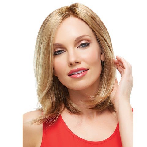 Blonde Middle Part Synthetic Wig Shoulder Length Wavy Wig Hot Sale
