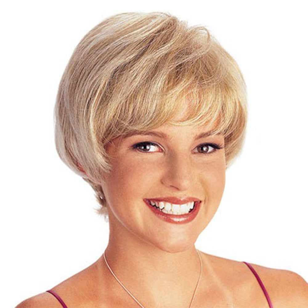 Short Light Blonde Curly Wig Synthetic hair Natural Looking