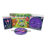Constructive Eating Garden Fairy Plate, Utensil and Placemat Bundle