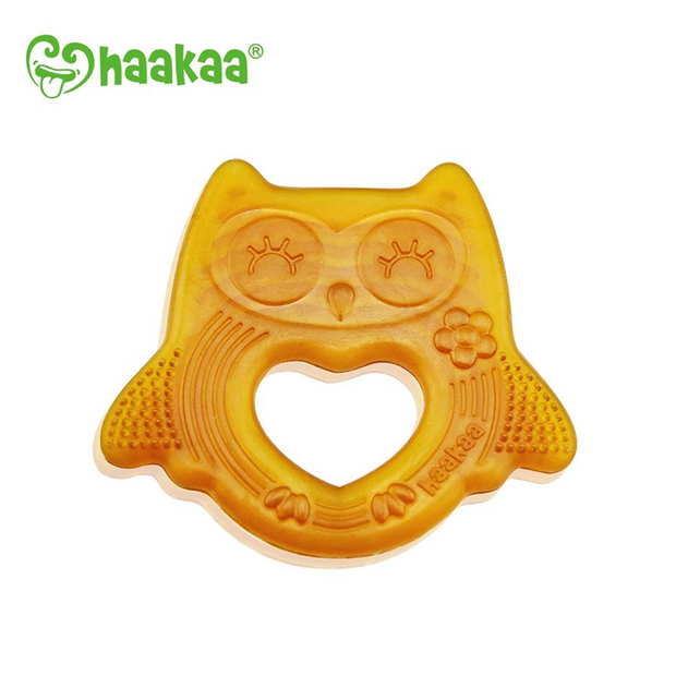 Haakaa Natural Rubber Owl Smiling Teether