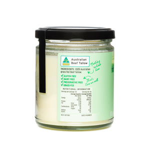 Australian Beef Tallow - Traditional Pure Source of Good Fat - Made in Australia 170 grams