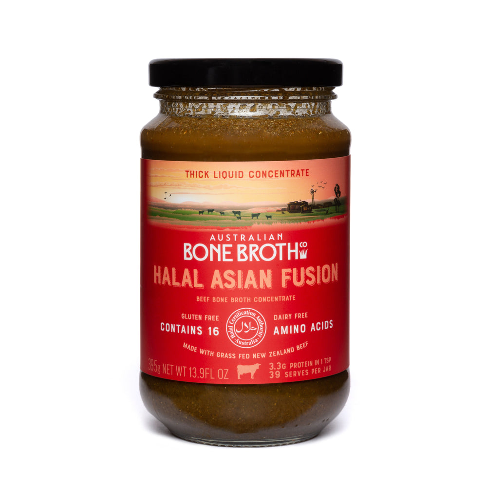 Halal Asian Fusion Bone Broth Perfect for a hot cup of Asian bone broth or a perfect spice blend to add to your favorite dish while cooking.