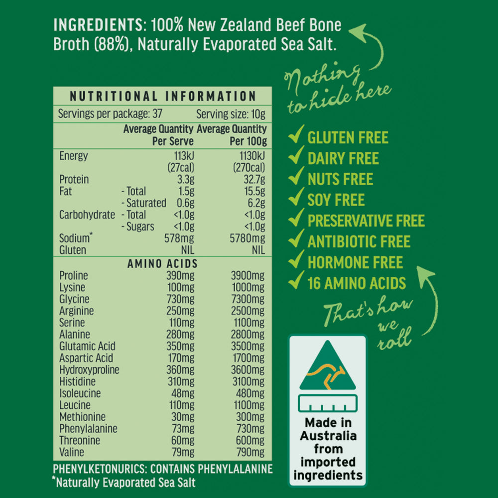 Halal Beef Bone Broth Concentrate 375 gram