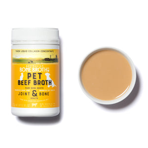 Pet Bone Broth made from premium grass-fed beef