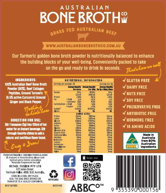 Our label shows all the goodness in our bone broth powder, created for you to nutritionally balance your building blocks.