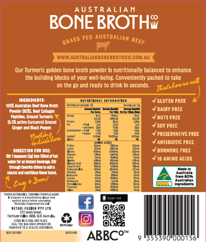 Turmeric Bone Broth Concentrated Freeze-Dried Powder  100 gram Just Arrived!