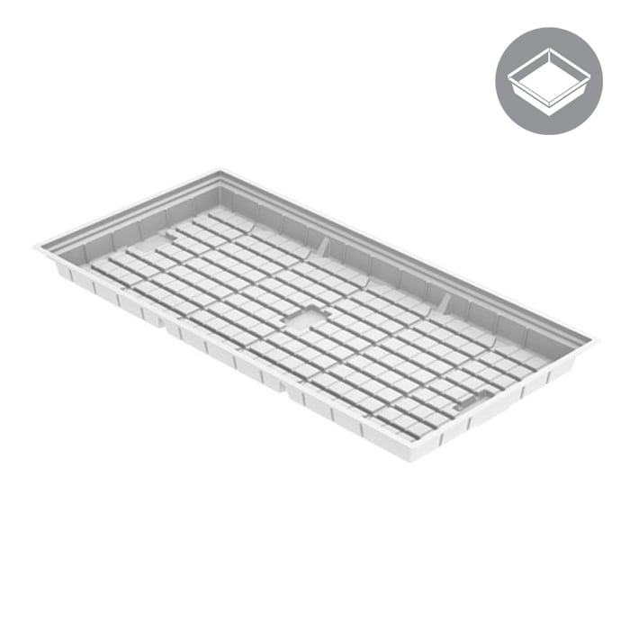 4'x8' Flood Tray - White (Heavy Duty) - Oklahoma Growers Supply