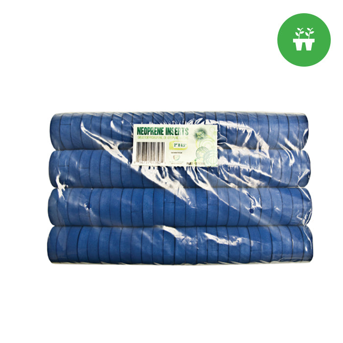 2'' Neoprene Inserts (sold 100 per pack) - Blue - Oklahoma Growers Supply