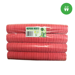 2'' Neoprene Inserts (sold 100 per pack) - Red - Oklahoma Growers Supply