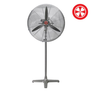 "26"" F5 Industrial Oscillating Pedestal Stand Fan - Oklahoma Growers Supply"