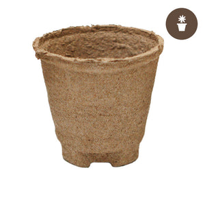 4''x3.75'' Round Jiffy Peat Pot (Case of 1100 pots) - Oklahoma Growers Supply