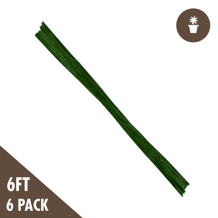 6' Green Bamboo Stakes Heavy Duty (6-pack) - Oklahoma Growers Supply