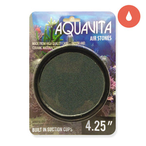 Aquavita 4.25'' Round Air Stone with Suction Cups
