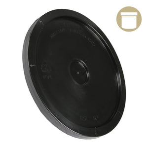 2 Gal. Black Plastic Bucket Lid - Oklahoma Growers Supply