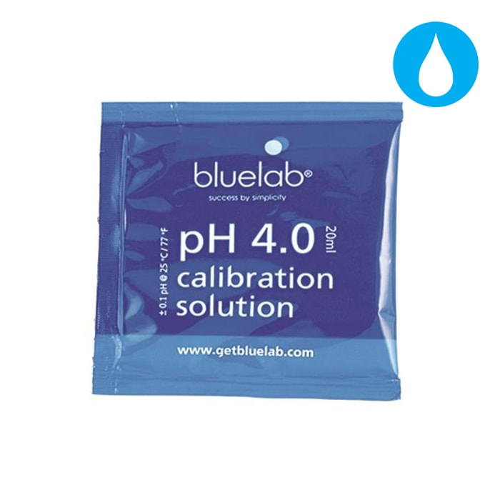 Bluelab pH 4.0 Calibration Solution 20ml (carton of 25)