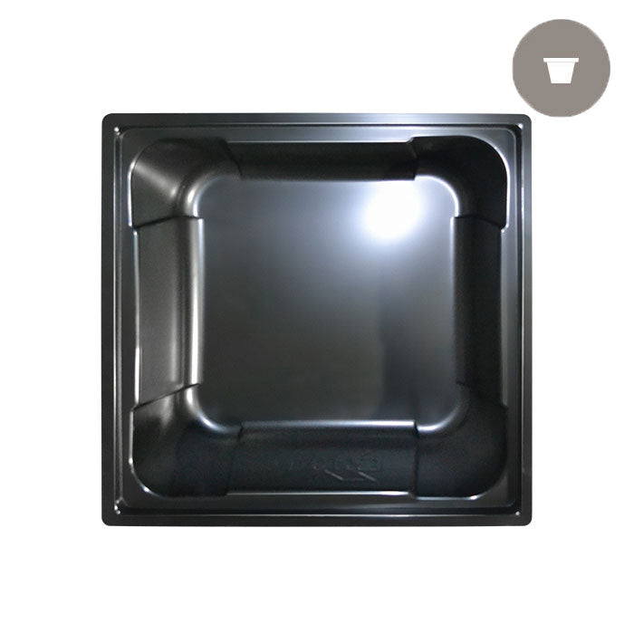 100 Gal. Black X-Trays Square Reservoir - Oklahoma Growers Supply