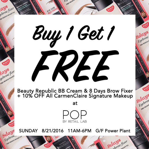 Buy 1 Get 1 Free at CC's first pop-up store!