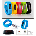 Bluetooth enabled fitness tracker with adjustable band
