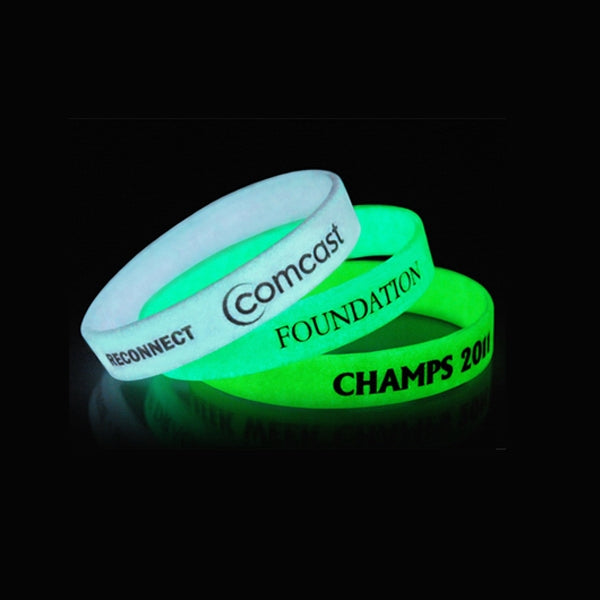 Glow in the Dark Silicone Bracelet