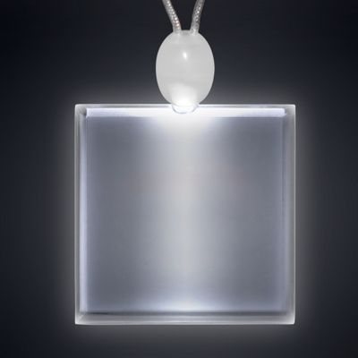 Acrylic Light Up Square Necklace