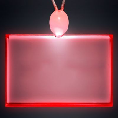 Light-up Promotional Acrylic Rectangle Necklaces with LED