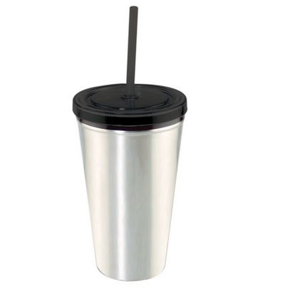 Stainless Tumbler w/Lid & Straw
