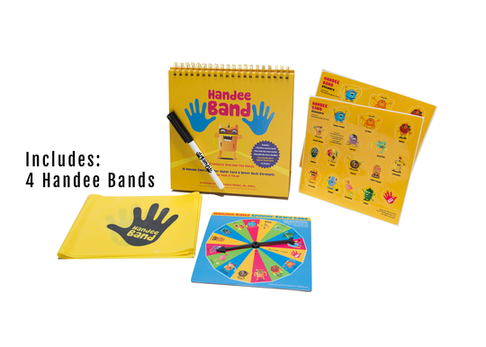 Handee Band Set 4 - Family Pack,  Exercise Cards, 4 Handee Bands, Spinner Board Image