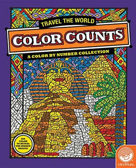 Mindfulness Activity Book - Colour by Numbers - Travel the World Image