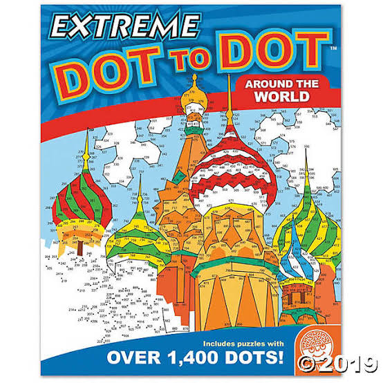 Mindfulness Activity Book - Extreme Dot to Dot - Around the World Image