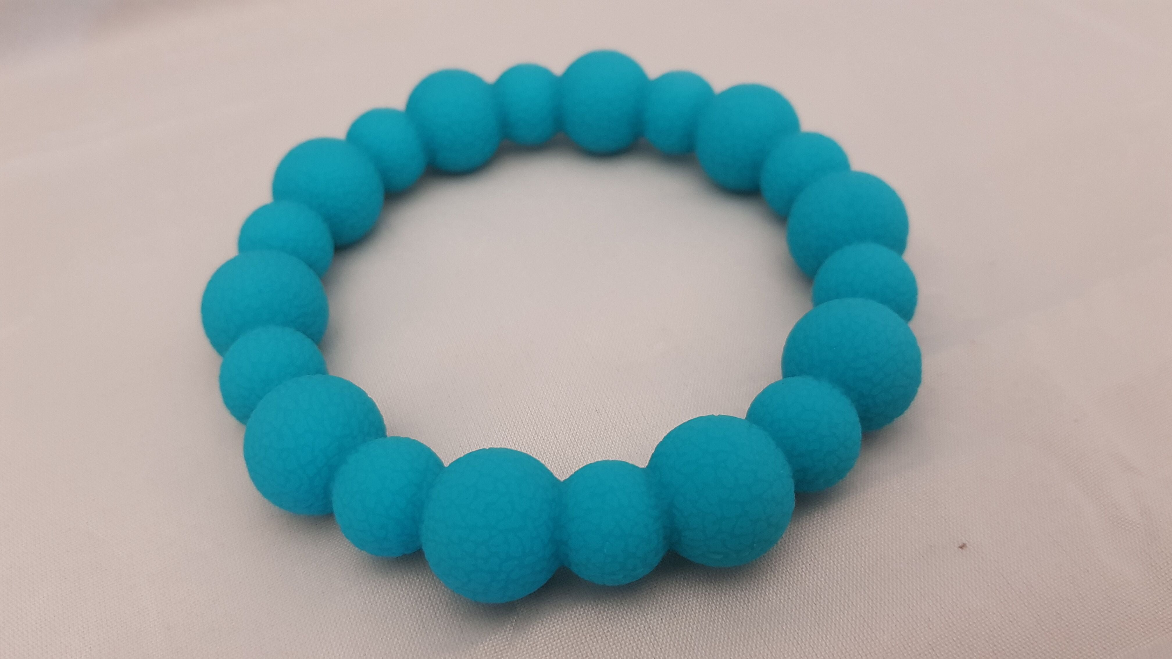 Chewigem Treads Bracelet - Bumpy Large Teal Image