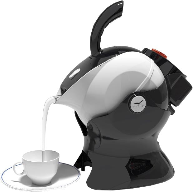Uccello Kettle - Black and White Image