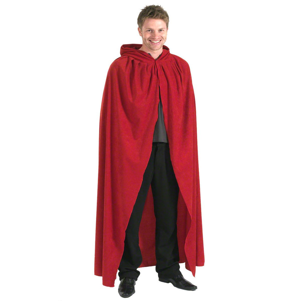Image of Red adult unisex cloak fancy dress costume | Charlie Crow