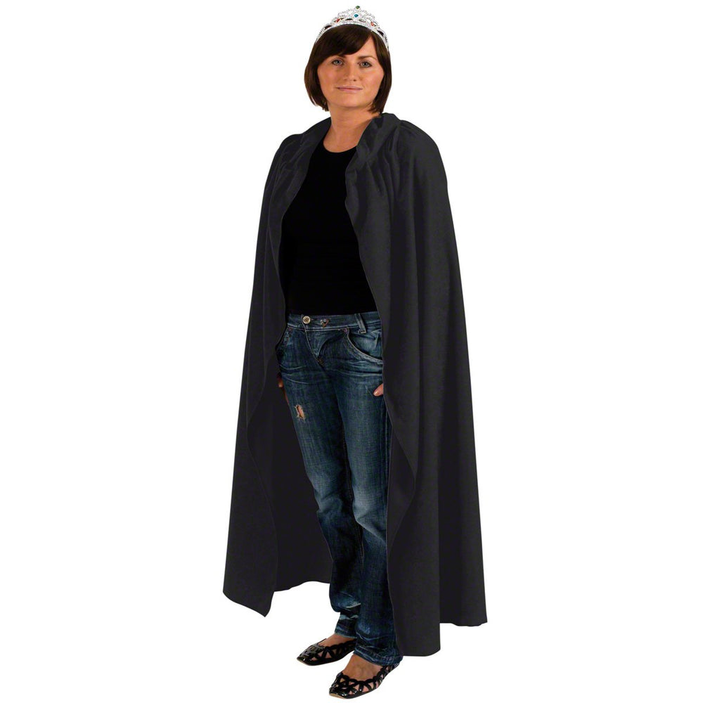 Image of Black adult cloak fancy dress costume | Charlie Crow