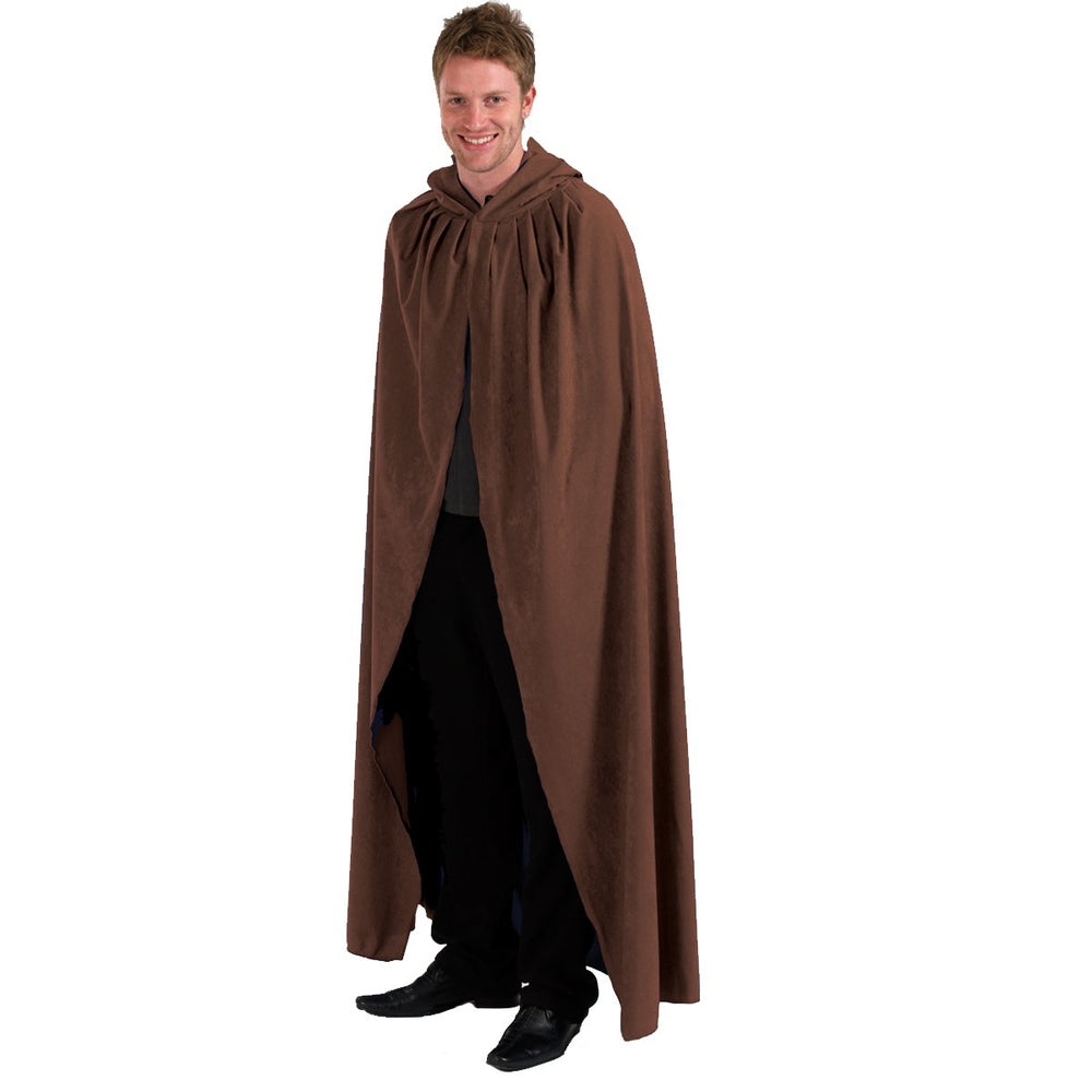 Image of Brown Adult cloak fancy dress costume | Charlie Crow