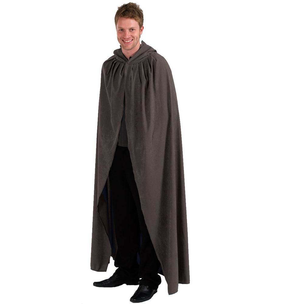 Image of Grey Adult cloak fancy dress costume | Charlie Crow