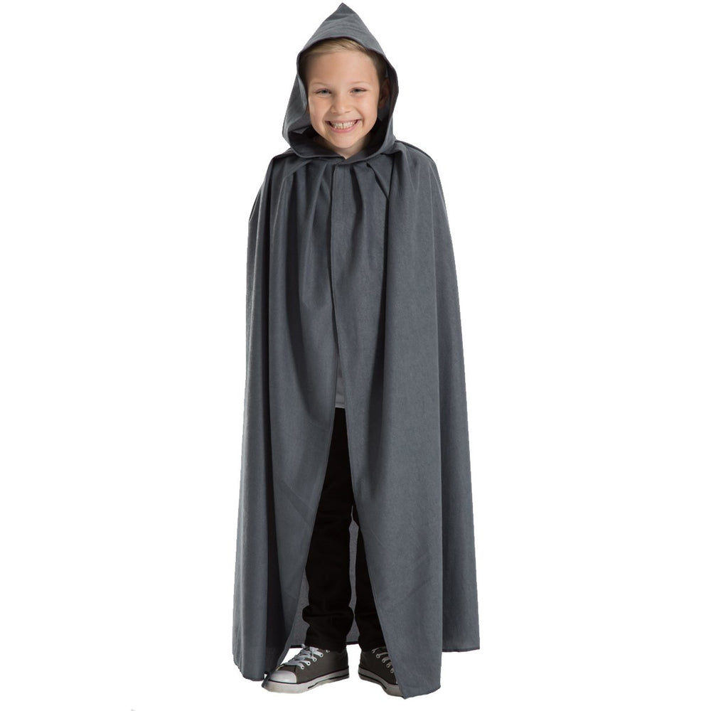 Image of Grey cloak with hood costume for kids | Charlie Crow