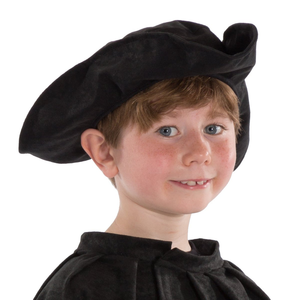 Image of Black Tricorn hat for kids | Charlie Crow