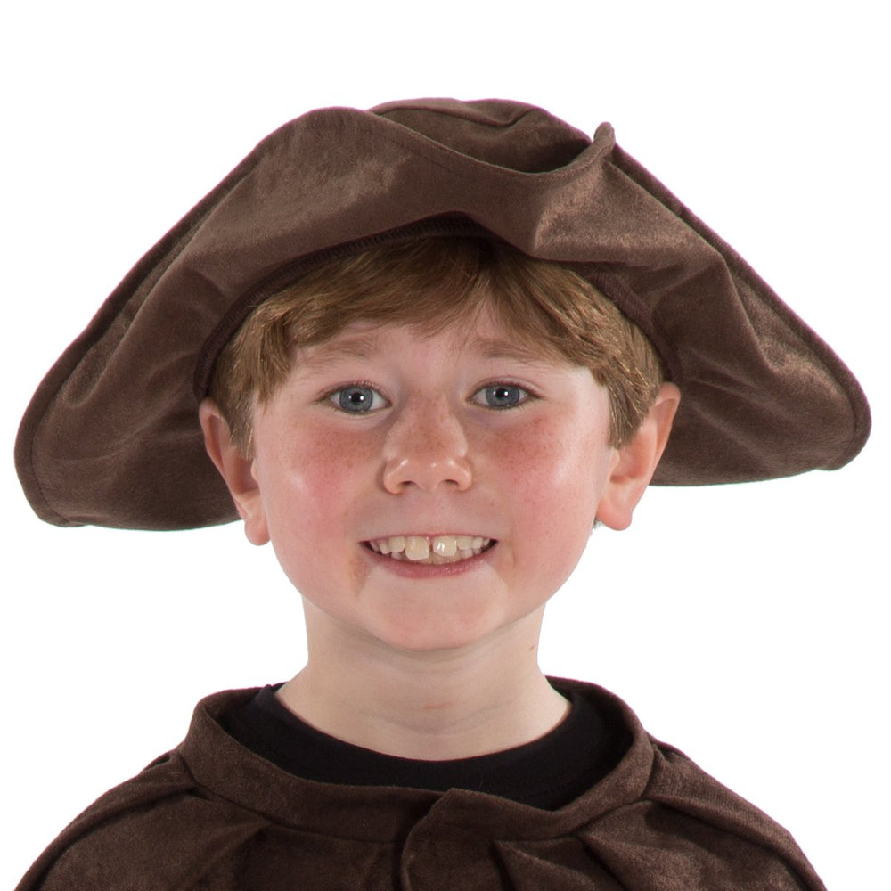 Image of Brown Tricorn hat for kids | Charlie Crow