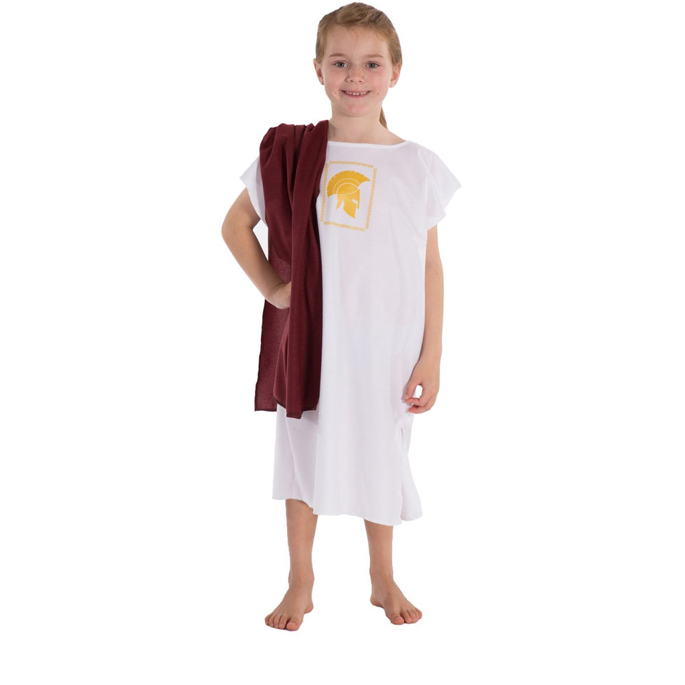 Image of White Roman | Greek costume for kids | Charlie Crow