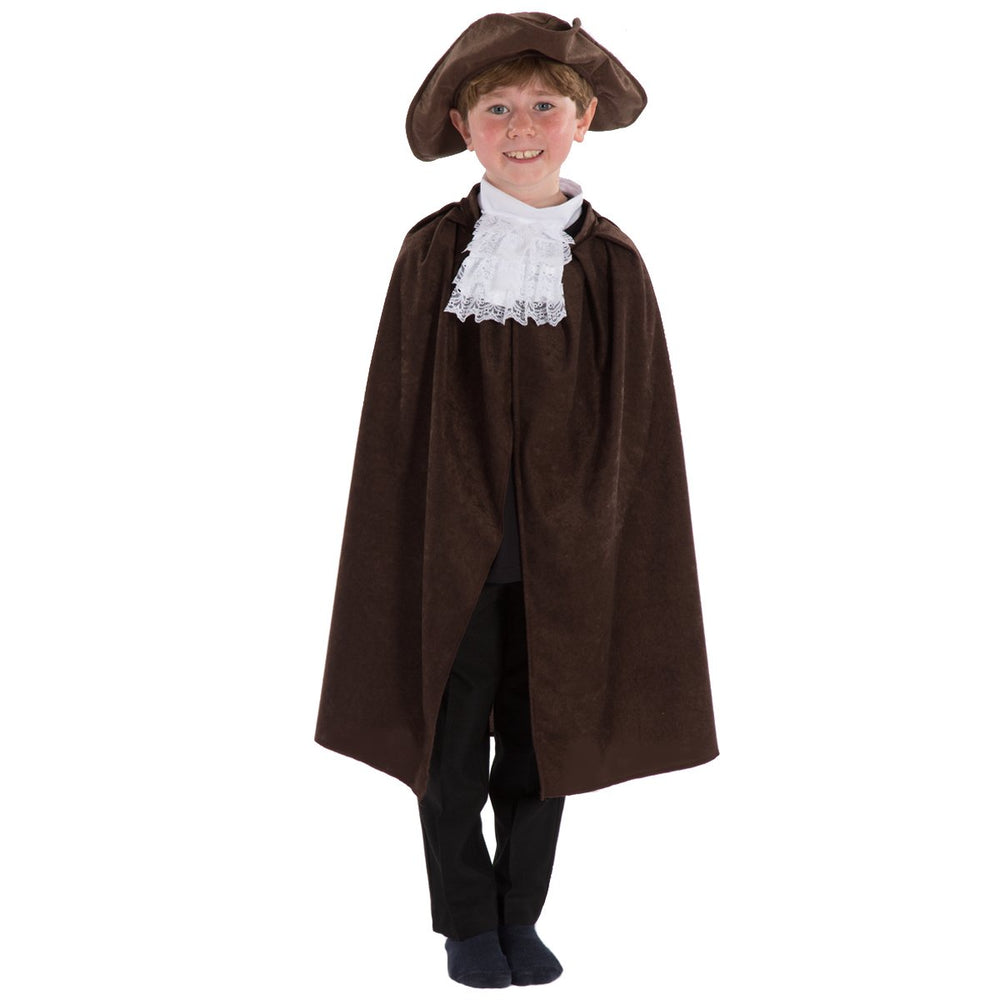 Image of Kids captain hook Tricorn Cape Cravat set | Charlie Crow